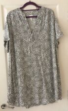 H And M Pretty Print Tunic Dress Black And White Size 16