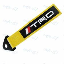 1X GOLD JDM TRD Racing Drift Rally Car Tow Towing Strap Belt Hook Universal New