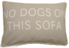 "FILLED EVANS LICHFIELD NO DOGS ON THIS SOFA MADE IN THE UK CUSHION 18"" X 13"""
