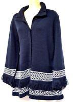 TS cardy TAKING SHAPE plus sz XS / 14 Traveller Cardi warm knit chic NWT rp$130!