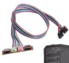 Panel de Estuche de PC Computadora De Escritorio Dual USB 1/2.0 Audio y micrófono Puerto Jack Cable 60 Cm