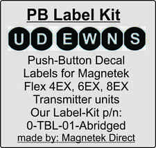 Only $7.50 each! Transmitter Push Button Decal Labels 0-TBL-01-ABR Magnetek Flex