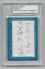 """2013 Leaf """"Cut Signature� John Nash Jr. Autograph """"True #1/1�"""