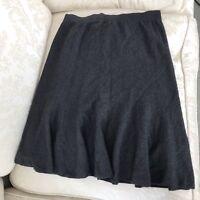 Vintage Don Sayres For Wellmore Wool Grey Below Knee Midi Skirt B SZ 16 XL