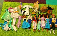 Vintage Disney Dolls ~ Jasmine, Aladdin, Belle, The Beast & More ~ Huge Lot