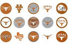 15 Pre-Cut University Of Texas Longhorns 1 Inch Bottle Cap Images