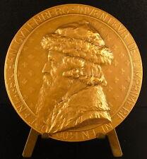 Médaille Jean Johannes Gensfleisch zur Laden zum Gutenberg imprimerie 210g Medal