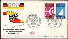Alemania Occidental 1969 Juegos Olímpicos FDC Primer Día Cubierta #C34421