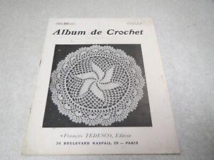 CA4 ALBUM DE CROCHET COUSINE CLAIRE ALBUM N° 1 FRANCOIS TESDESCO