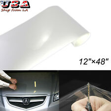 "12"" x 48"" Clear Bra Headlight Bumper Hood Paint Protection Film Vinyl Wrap Sheet"