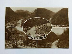 Killiecrankie Vintage B&W postcard c1930 Multi-view