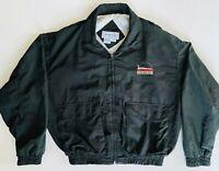 Rare Vintage NHRA Top Eliminator Club Large Embroidered Black Windbreaker Jacket