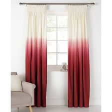 66x90 ARGOS RED OMBRE Pencil Pleat Curtains Lounge Kids Bedroom Argos Unlined