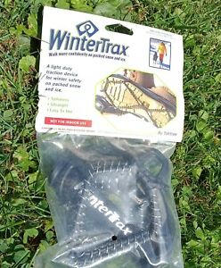 New Yaktrax WINTERTRAX traction safety fits shoes boots Spikeless Ultralight
