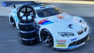 RC 4 Drift Tyres + 4 Black Wheels 6mm Offset On Road 1/10 Scale