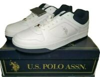 US Polo Assn Men's White Athletic Shoes Size 10 New With Tag and Original Box