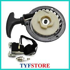 Pull starter ignition coil spark plug for 49cc 2 stroke mini pocket bike