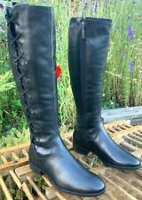 Harley Davidson Women's Size 6 M Motorcycle Side Zip Tall Black Dress New Boots