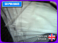 🐟 50 x PVA BAGS, 85x120mm 🐟 LICK 'N' STICK, FULL DISSOLVE, BOILIES PELLET ETC