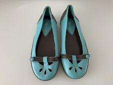 Kurt Geiger Size Uk3??(see Description)Ladies Turquoise Leather Slip On Shoes