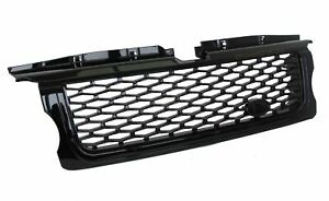 Full Black Autobiography style Front Grille for Range Rover SPORT 05-09