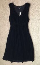 $178 Madewell by J Crew Dusklight Velvet Dress 2 item 58020 Black NWT SOLD OUT!!