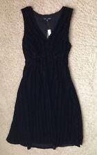 $178 Madewell by J Crew Dusklight Velvet Dress 2 item 58020 Black NWT SOLD OUT!!