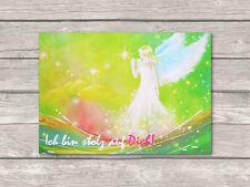 """♥ Engel Postkarte """"Ich bin stolz auf Dich!"""" Engelbild Grußkarte"""