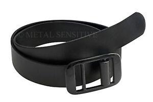 Black Professional Leather Belt Plastic Buckle MOD Security Military NHS HMP GS4