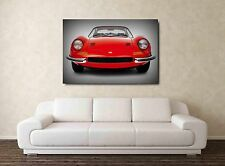 Ferrari Dino 246 GT 30x20 Inch Canvas Framed Picture Print Classic Car