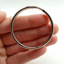 2 x Large Jailers Fob / Keyring / Split Ring (58mm) (FREE P&P)