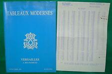 catalogue vente enchères VERSAILLES Tableaux modernes + liste prix de vente (6)