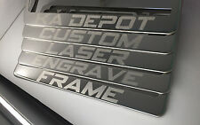 Custom Personalized Laser Engraved License Plate Frame Holder Stainless Steel