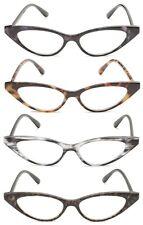 1 or 2 Pair(s) Retro Cat Eye Frame Reading Glasses (NOT BIFOCAL) Reader