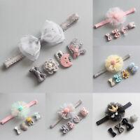 5Pcs/Set Cute Bows Crown Baby Hair Clips Headbands Girls Kids Baby Toddler Nice