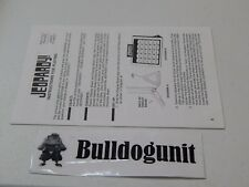1986 Jeopardy Board Game Instruction Booklet Manual Replacement Part Piece