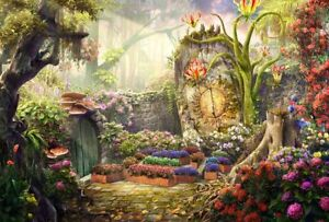 Home Art Wall Decor Fantasy Mysterious Garden Oil Painting Printed On Canvas