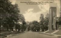 Brownsville TN Washington St. c1910 Postcard