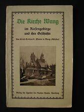 Gebhardt DIE KIRCHE WANG im Riesengebirge und ihre Geschichte 1924 Schlesien