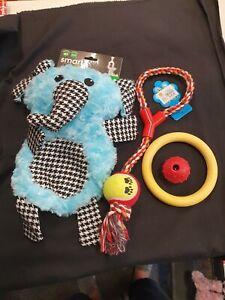 Dog Toy Bundle (4 toys) Rope Ball Plush Ring