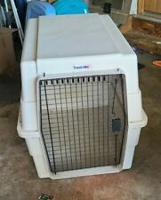"Dog Crate Large Travel Airline Approved Pet Kennel 36"" Cage 50-70 lb. Lite Brown"