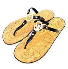 New MICHAEL KORS MK Size 8 M PVC Jelly Cork Black Women's Sandals MSRP $59