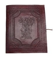 Stammbaum des Lebens Fotoalbum XXL Leder Indien Handmade Vintage Schwarze Seiten