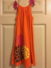Hanna Andersson Orange Dress Girls Size 130 or 8
