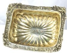 1831 ANTIQUE RUSSIAN 84 875 SILVER SALT DISH CELLAR FOOTED RECTANGLE