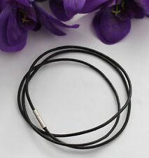Cord Necklaces 60cm #22499 20 Pcs 3mm Black Leather