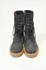 NWOB  ANN DEMEULEMEESTER CHARCOAL GREY SUEDE LACE UP BOOTS SIZE 45 EU 11 US