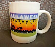 Starbucks Sulawesi Indonesia Ceramic Coffee 12 oz Mug Cup Sunset Vintage 1990s