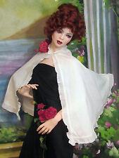 ANTIQUE Victorian Edwardian CAPE white FAILLE Batiste RUFFLE lace GIRLS womens
