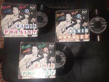 Disques vinyles 45 T Elvis Presley  n° 1 2 5 Rock n roll 75319 75348 75320
